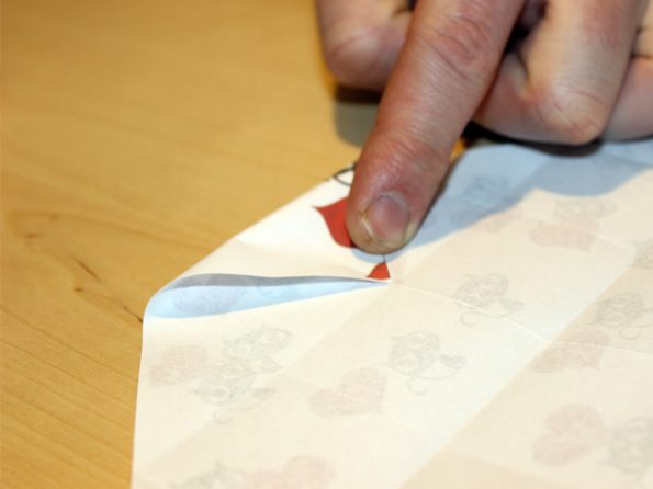 Papierkiste kleinstmögliche Faltung