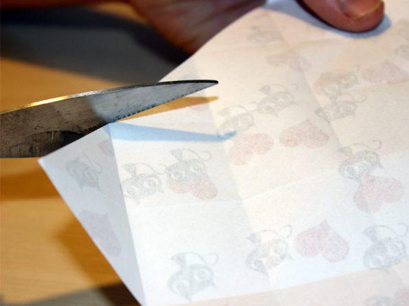 Papierbox Kästchen einschneiden