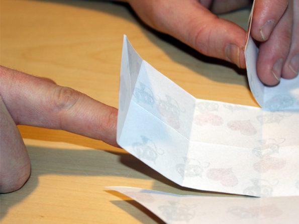 Papierbox Schneideeergebnis