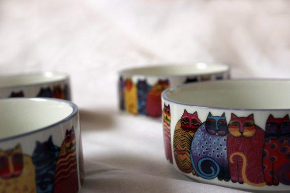 Keramiknapf Katze - detail