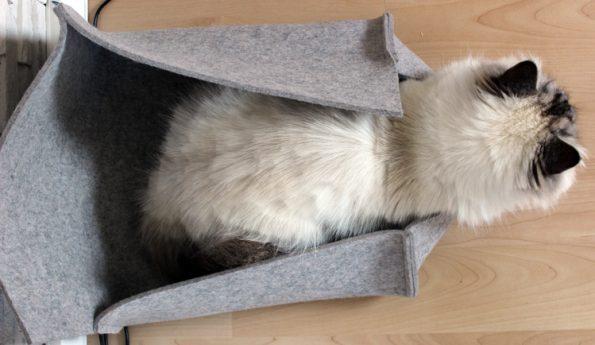 Filzbett für Katzen von oben