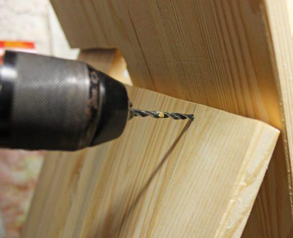 Bohren am Holztipi