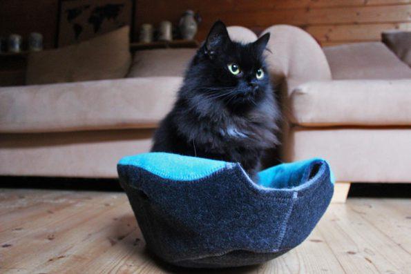 Katzenkörbchen Filz