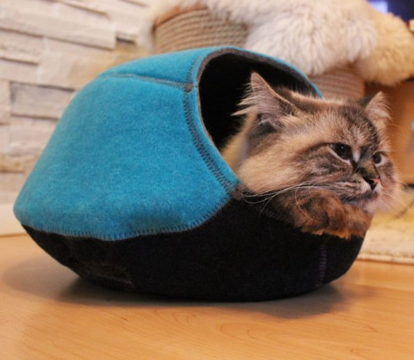 Katzenhöhle Filz Univok seitlich