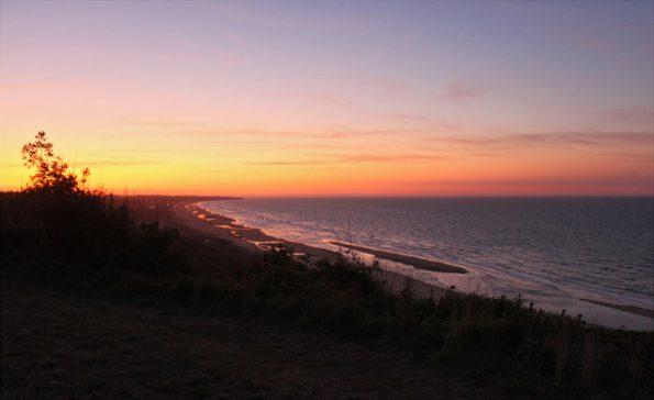 Omaha Beach Sonnenuntergang